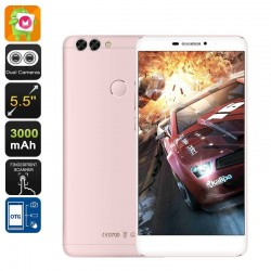 Smartphone 4G 5.5 Pouces Android 6.0 1080P Double Caméra 16Go Or Rose