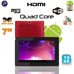 Tablette tactile Android 4.1 7 pouces Quad Core éducative WIFI 16 Go