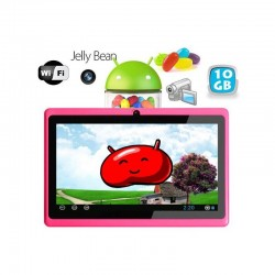 Tablette tactile Android 4.1 Jelly Bean 7 pouces capacitif 10 Go Rose