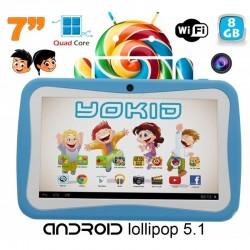 Tablette tactile enfant YOKID quad core 7 pouces Android 5.1 Bleu