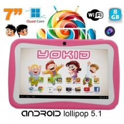 Tablette tactile enfant YOKID quad core 7 pouces Android 5.1 Rose 8Go