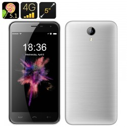 Smartphone 5 Pouces 4G Android 5.1 Dual Sim 13Mp Smart Wake Gps 16Go