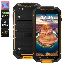 Smartphone Antichoc Android 7.0 Waterproof 4.5 Pouces Quad Core 8Go