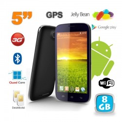 Smartphone android 5 pouces téléphone débloqué Quad Core 8 Go Noir